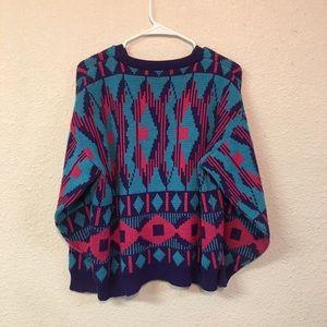 🍁 2/$10 Vintage 80s retro sweater
